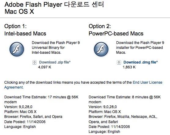 OSX Flash