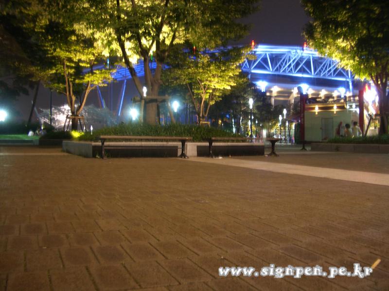 수원 월드컵경기장의 밤